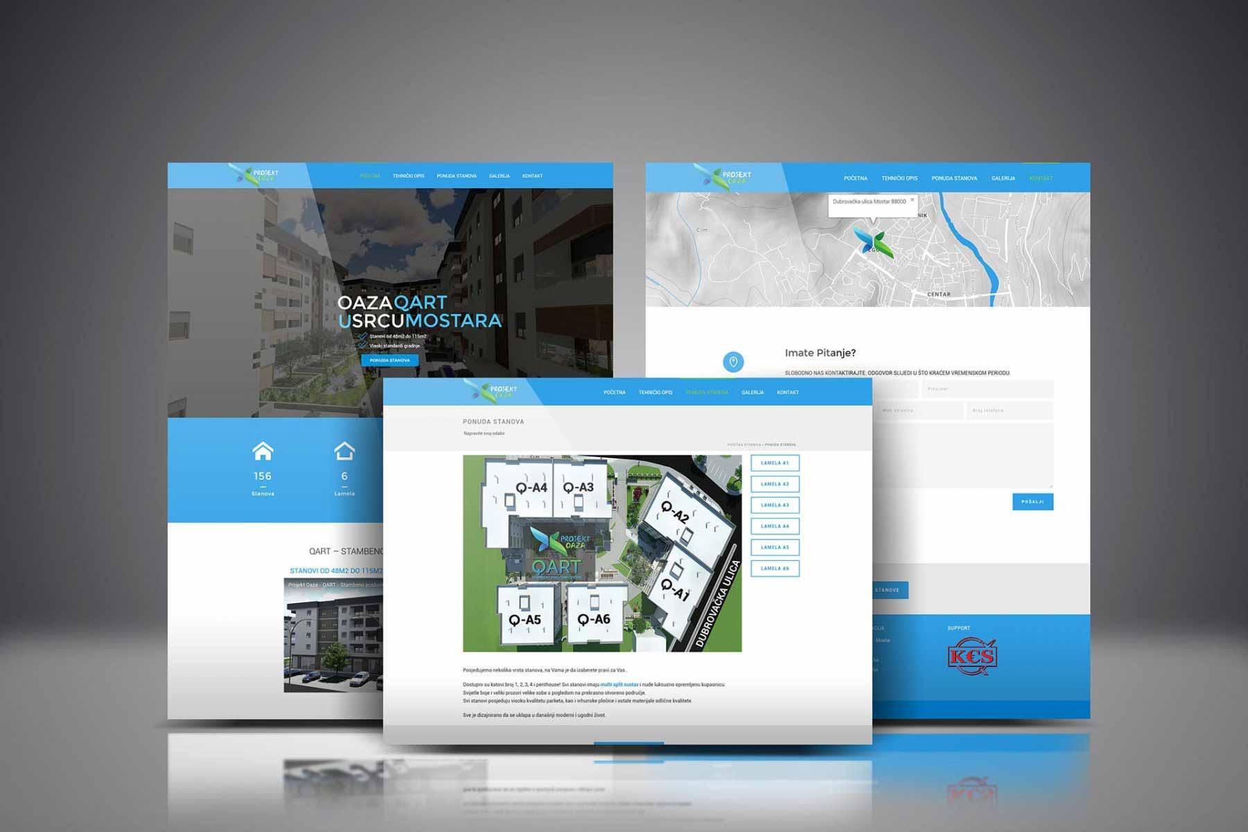 projekt oaza mostar web design e-inzenjering