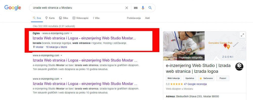 izrada-web-stranica-u-Mostaru-Google-pretraživanje