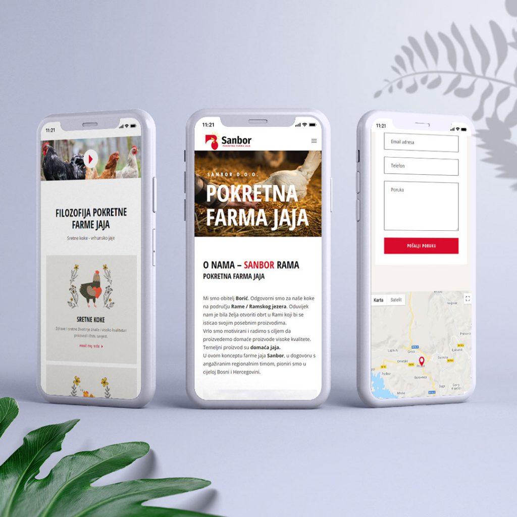 izrada web stranica za mobitel -sanbor
